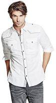 GUESS Men's Stan Slim-Fit Western Shirt