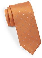 Black Brown 1826 Classic Microdot Tie