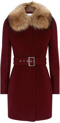 Claudie Pierlot Fur Collared Jacket