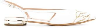 Casadei Pointed Toe Ballerina Shoes