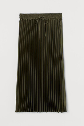 H&M Pleated Skirt - Green