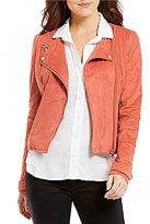 Chelsea & Violet Faux-Suede Moto Jacket