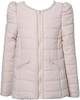 Richie House Girls' Winter Jacket with Pearls RH2254-A