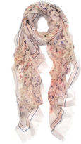 Elizabeth Gillett Spotted Watercolor Oversized Pure Cashmere Wrap