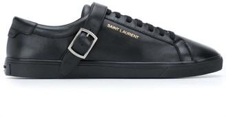 Saint Laurent Andy buckled sneakers