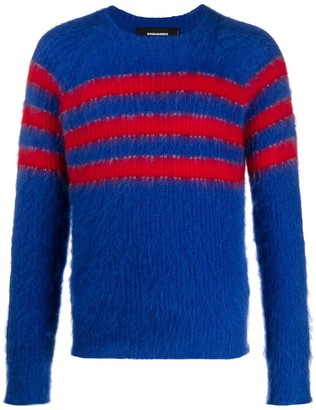 DSQUARED2 Striped Knitted Jumper