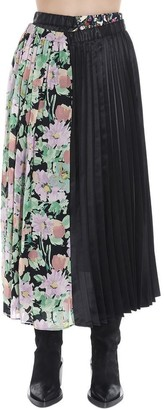 Junya Watanabe Pleated Floral Patchwork Skirt