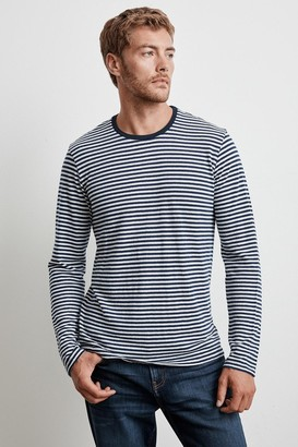 Velvet by Graham & Spencer STENTON LINEN STRIPE LONG SLEEVE TEE