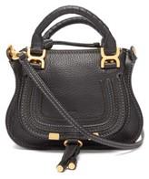 Chloé Marcie Mini Grained Leather Cross-body Bag - Womens - Black