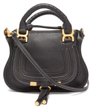 Chloé Marcie Mini Grained Leather Cross-body Bag - Black