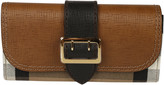 Burberry House Check Embossed Bridle Halton Wallet