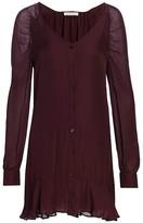 Parker Calantha Button-Front Silk Dress