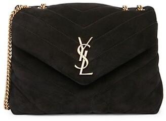 Saint Laurent Small Loulou Matelasse Suede Shoulder Bag