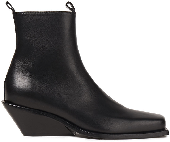 Ann Demeulemeester Leather Wedge Ankle Boots