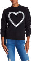 Wildfox Couture Heart Beaded Sequined Cashmere Sweater
