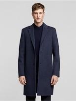 Calvin Klein Collection Double Face Wool Herringbone Overcoat