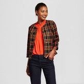 A New Day Women's Cropped Plaid Tweed Jacket - A New Day Black