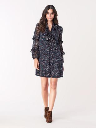 Diane von Furstenberg Amalie Stretch Georgette Mini Dress