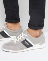 Versace Runner Sneakers In Gray