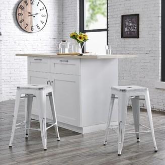 "Laurel Foundry Modern Farmhouse Meriden Bar & Counter Stool Color: Matte Black, Upholstery: Matte Black, Seat Height: Counter Stool (24"" Seat Height)"