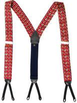 Burberry Silk Printed Suspenders