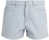 A.P.C. Striped stretch-denim shorts