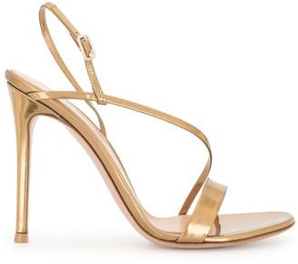 Gianvito Rossi Strappy Gold Sandals