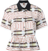 I'M Isola Marras multi-print ruffled shirt - women - Cotton/Spandex/Elastane - 42