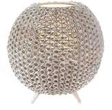 Casa Uno Sheik Honeycomb Table Lamp, White
