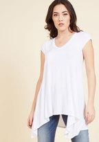 ModCloth A Crush on Casual Tunic in White in L
