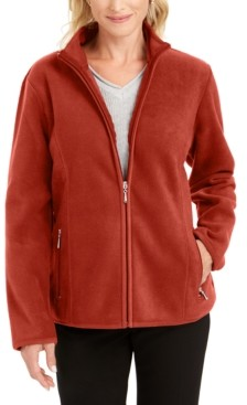 Karen Scott Sport Zip-Up Zeroproof Fleece Jacket, Created for Macy's