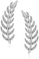Tai Leaf Climber Silver Earrings