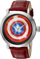 Marvel Men's 'Captain America' Quartz Metal Casual Watch, Color: (Model: WMA000022)