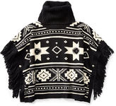 Ralph Lauren 7-16 Fringed Turtleneck Poncho