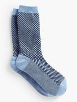 Talbots Womans Exclusive Texture Trouser Sock