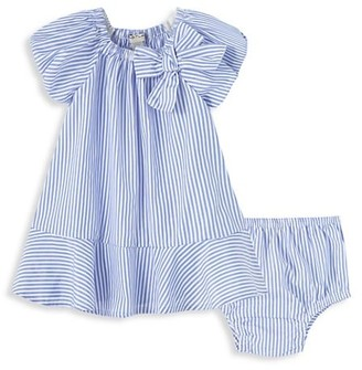 Habitual Baby Girl's 2-Piece Striped Bow Dress & Bloomers Set