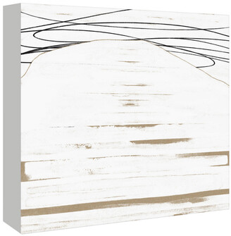 American Flat Americanflat White Abstract By Kasi Minami Canvas Artwork