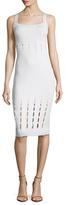 Cushnie et Ochs Laser Cut Knit Bodycon Midi Dress