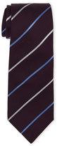 Roda Dark Purple Striped Silk Tie