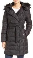 Sam Edelman Faux Fur Trim Down Coat