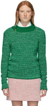 Namacheko Green and White Wool Deng Sweater