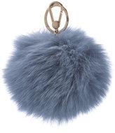 Furla Women's Bubble Fur Pom Pom Keyring Dolomia