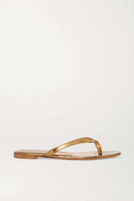 Gianvito Rossi Mirrored-leather Sandals - Gold
