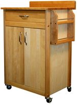 Catskill Craft Butcher Block Kitchen Island Cart