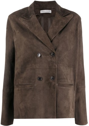 Inès & Marèchal Double-Breasted Suede Jacket