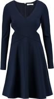 Halston Cutout crepe dress