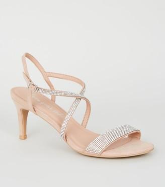 New Look Diamante Strap Stiletto Heels