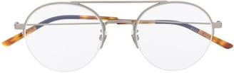 Gucci Half-Rim Round-Frame Glasses