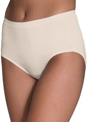 Fruit of the Loom Women's Body Tone Cotton Brief Underwear, 10 Pack