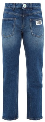 Burberry Monik Reconstructed-pocket Jeans - Womens - Indigo